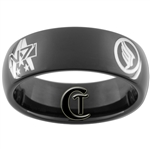 7mm Black Dome Tungsten Carbide Mass Effect Design