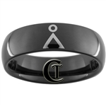 7mm Black Dome Tungsten Carbide Stargate Design