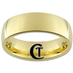 7mm Gold Dome Tungsten Carbide Ring