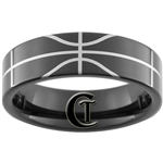 7mm Black Pipe Tungsten Carbide Basketball Design