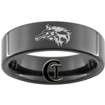 7mm Black Pipe Tungsten Legend of Zelda Link Wolf Designed Polished Ring