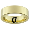 7mm Gold Pipe Tungsten Carbide Ring