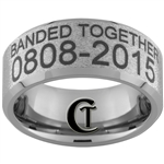 Build Your Own Duck Band Ring 8mm Beveled Tungsten Carbide Custom Duck Band Design
