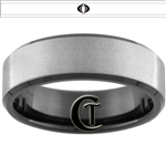 8mm Black Beveled Stoned Finish Tungsten Carbide G.I. Joe Cobra Design