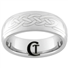 8mm Dome Tungsten Carbide Celtic Knot Design