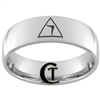 8mm Dome Tungsten Carbide Masonic Yod Design