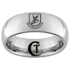 8mm Dome Tungsten Carbide Air Force Security Defensor Fortis Design Ring.