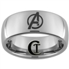 8mm Dome Tungsten Carbide Avengers Design