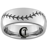 8mm Dome Tungsten Carbide Baseball Stich Design