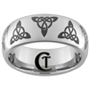 8mm Dome Tungsten Carbide Celtic Triangles Design