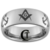 8mm Dome Tungsten Carbide Masonic & Navy Design.