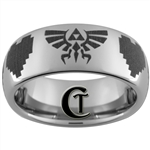 8mm Dome Tungsten Carbide Zelda Design