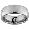 8mm Dome Tungsten Carbide Claddagh Celtic Design