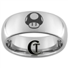 8mm Dome Tungsten Carbide Black Mario Design