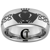 8mm Dome Tungsten Carbide Claddagh Design