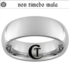 8mm Dome Tungsten Carbide Supernatural Design With Custom Text