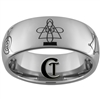8mm Tungsten Carbide Reiki Master Chakra Design Ring.