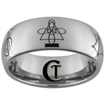 8mm Tungsten Carbide Dome Custom Design Ring