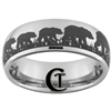 8mm Dome Tungsten Carbide Bears & Hunting Design