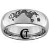 8mm Dome Tungsten Carbide Dragon Star Design Ring.