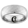 8mm Dome Tungsten Carbide Lasered Celtic Ring Design