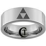 8mm Pipe Tungsten Carbide Zelda Design