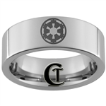 8mm Pipe Tungsten Carbide Star Wars Galactic Empire Design