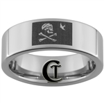 8mm Pipe Tungsten Carbide Pirate Flag Design