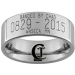 8mm Pipe Tungsten Carbide Custom Duck Band Design