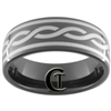 9mm Black Dome Tungsten Carbide Celtic Design