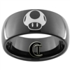 9mm Black Dome Tungsten Carbide Mario Mushroom Design Ring.