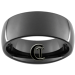9mm Black Dome Tungsten Carbide Ring