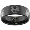 9mm Black Dome Tungsten Carbide Mario Design