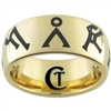 9mm Gold Dome Tungsten Carbide Stargate Design