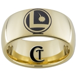 9mm Gold Dome Tungsten Carbide Custom Legion Design