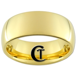 9mm Gold Dome Tungsten Carbide Ring