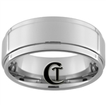 9mm Pipe 1 Step Tungsten Carbide Ring