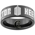9mm Black Pipe Tungsten Carbide Doctor Who Keep Calm I'm The Doctor Design