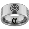 10mm Beveled Tungsten Carbide Avengers Design