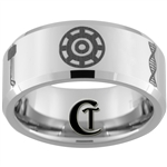 10mm Beveled Tungsten Carbide Avengers Laser Design