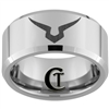 10mm Beveled Tungsten Carbide Custom Design
