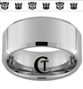 10mm Beveled Tungsten Carbide Autobot Decepticon Design