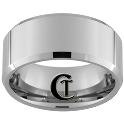 10mm Beveled Tungsten Carbide Polish Ring