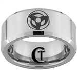 10mm Beveled Tungsten Carbide Naruto Sharingan Design
