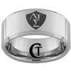 10mm Beveled Tungsten Carbide Greek CTR Shield Design