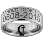 Build Your Own Duck Band Ring 10mm Beveled Tungsten Carbide Custom Duck Band Design