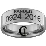Build Your Own Custom 10mm Beveled Stone Finish Tungsten Carbide Duck Band Design