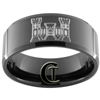 10mm Black Beveled Tungsten Carbide Army Engineer Castle Design