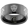 10mm Black Beveled Tungsten Carbide Masonic & Police Design