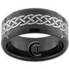 10mm Black Beveled Tungsten Carbide Celtic Design